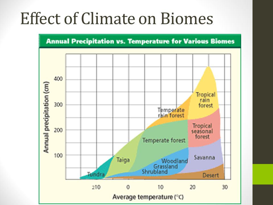 Effect of Climate on Biomes