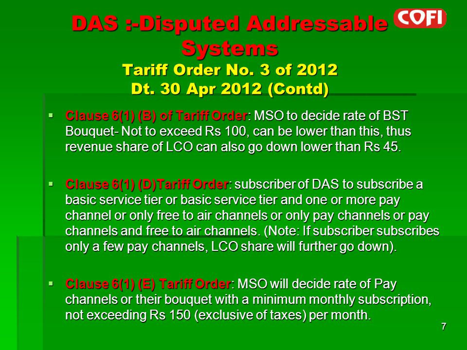Wishlist of Cable Operators  DAS licence should be given to group of operators co-operative on Fast track basis.
