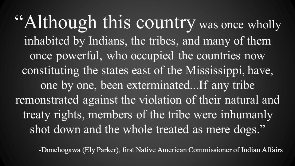 """Although this country was once wholly inhabited by Indians, the tribes, and many of them once powerful, who occupied the countries now constituting t"