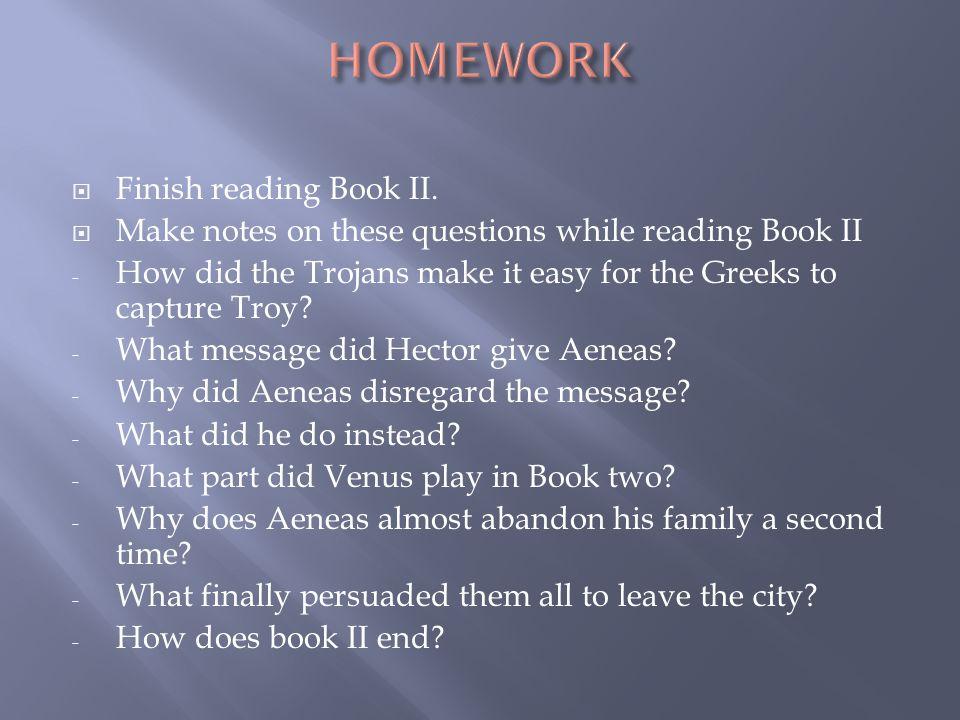  Finish reading Book II.