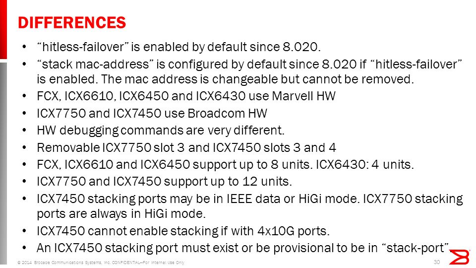 DIFFERENCES hitless-failover is enabled by default since 8.020.