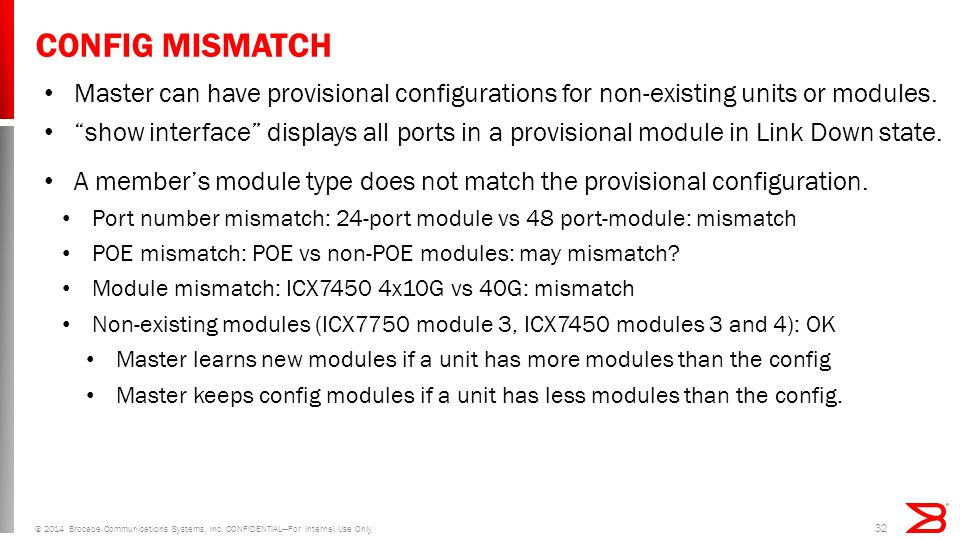 CONFIG MISMATCH Master can have provisional configurations for non-existing units or modules.