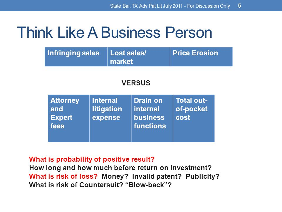Think Like A Business Person State Bar.
