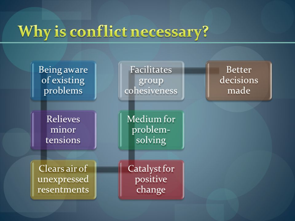Summary/ Learning Points - Conflict can occur due to different goals and expectations - Necessary for better decisions - Optimal level of conflict can result in high performance - Increased group performance - Types of outcome; win-win is the best situation.
