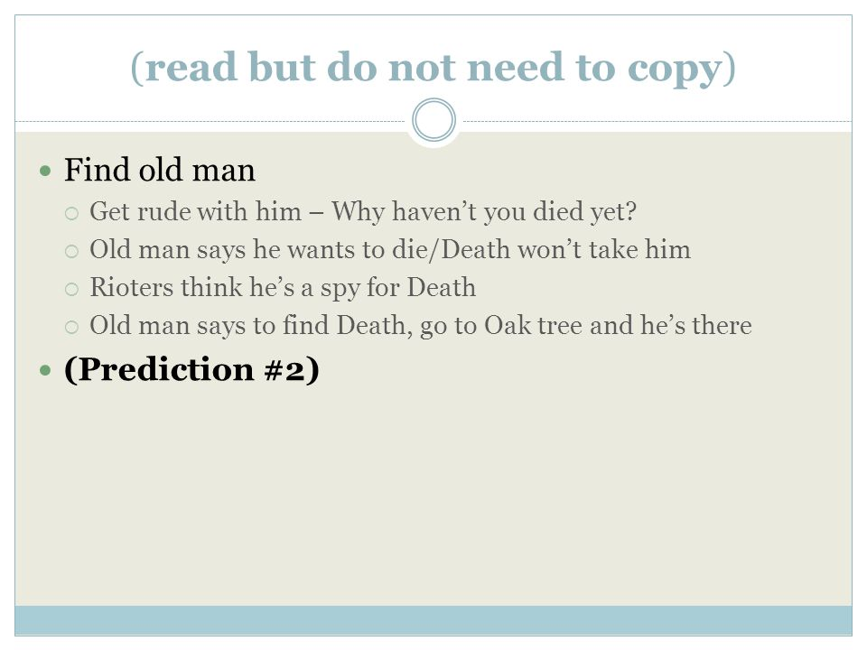 2 nd Prediction Actual Outcome (Your guess at what will happen next) (copy the lines in the story that support your guess) (no outcome yet, fill this in later) Lines based on (hint) Prediction