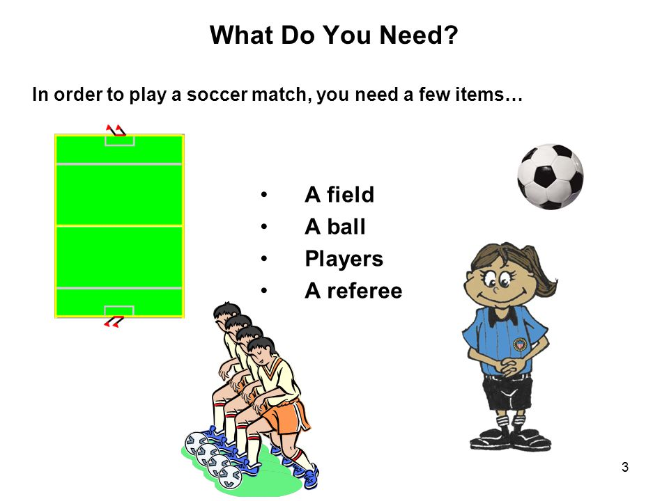 4 The Field The diagram below is the standard layout for a U7-U9 soccer field ( pitch ).