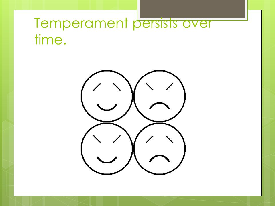 Temperament persists over time.