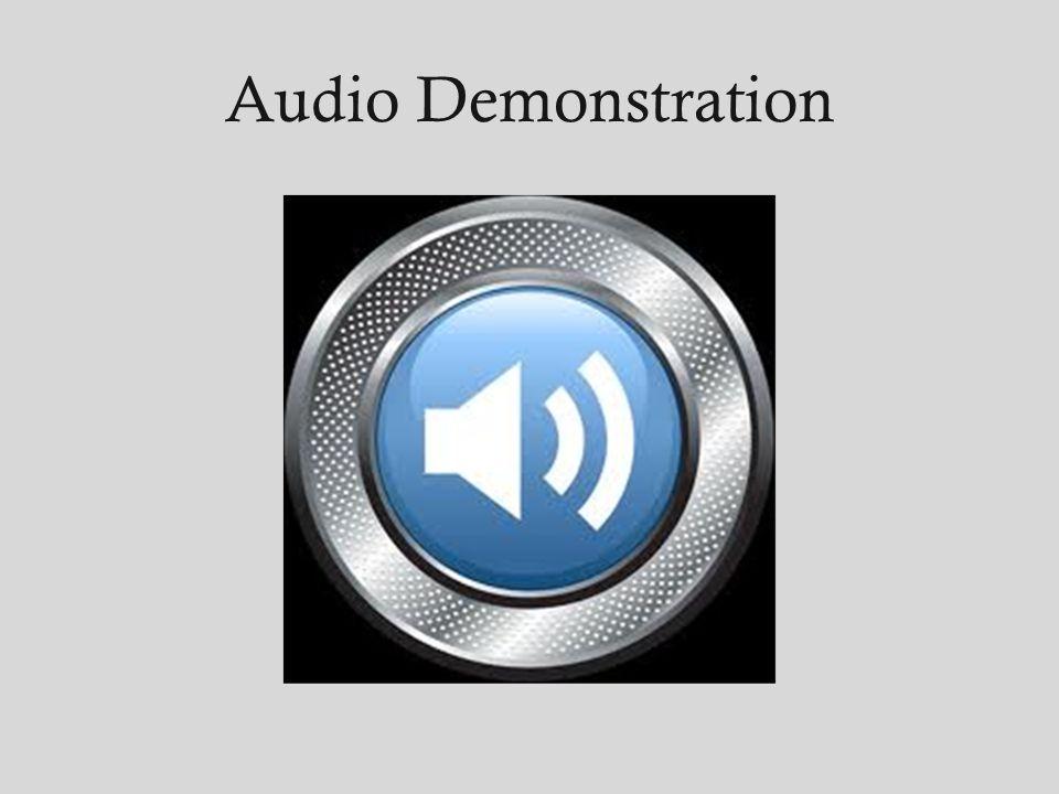 Audio Demonstration