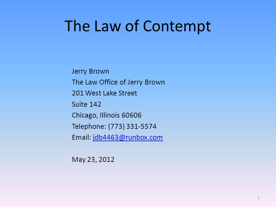 The Law of Contempt Criminal contempt is a crime in the ordinary sense, Bloom v.