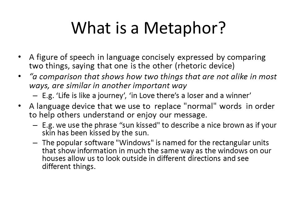 What is a Metaphor.