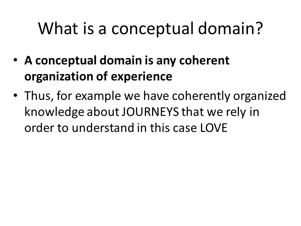 What is a conceptual domain.