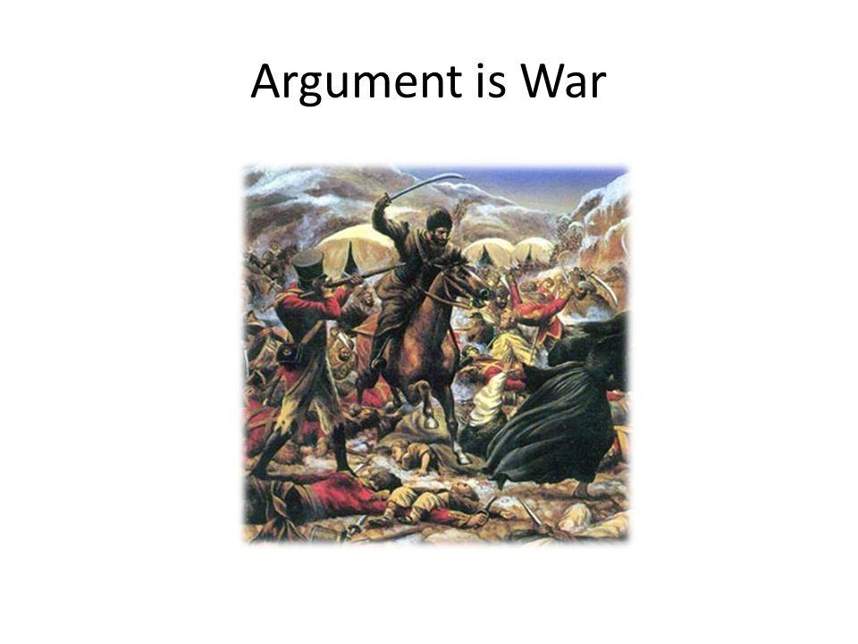 Argument is War