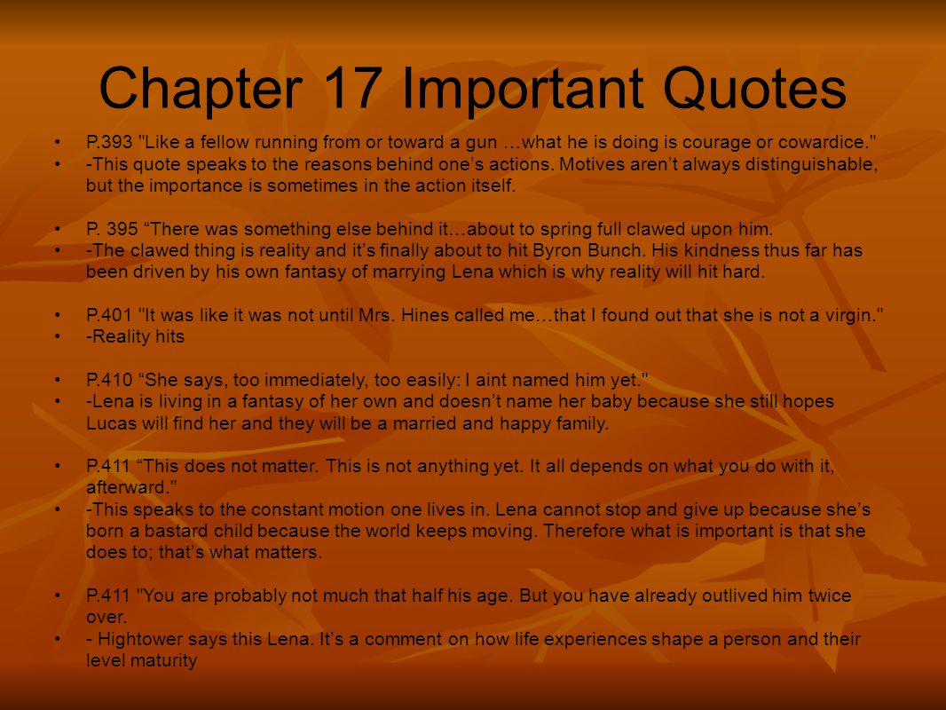 Chapter 17 Important Quotes P.393