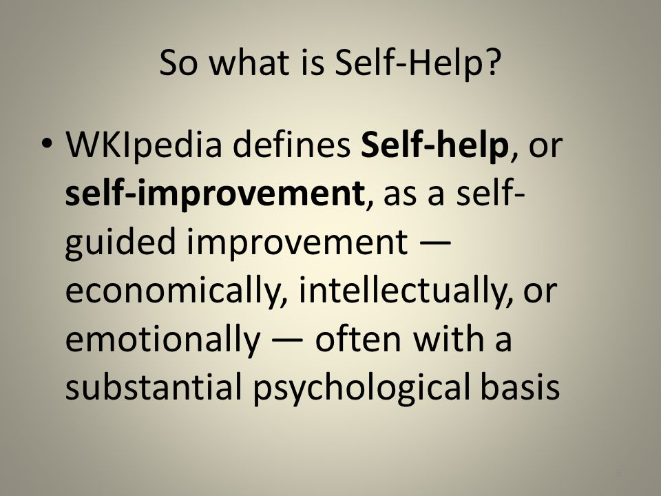 National Center for State Courts website says: A self-help program is a service or coordinated group of services that assist self-represented litigants by providing them with legal resources and information that would otherwise not be available.