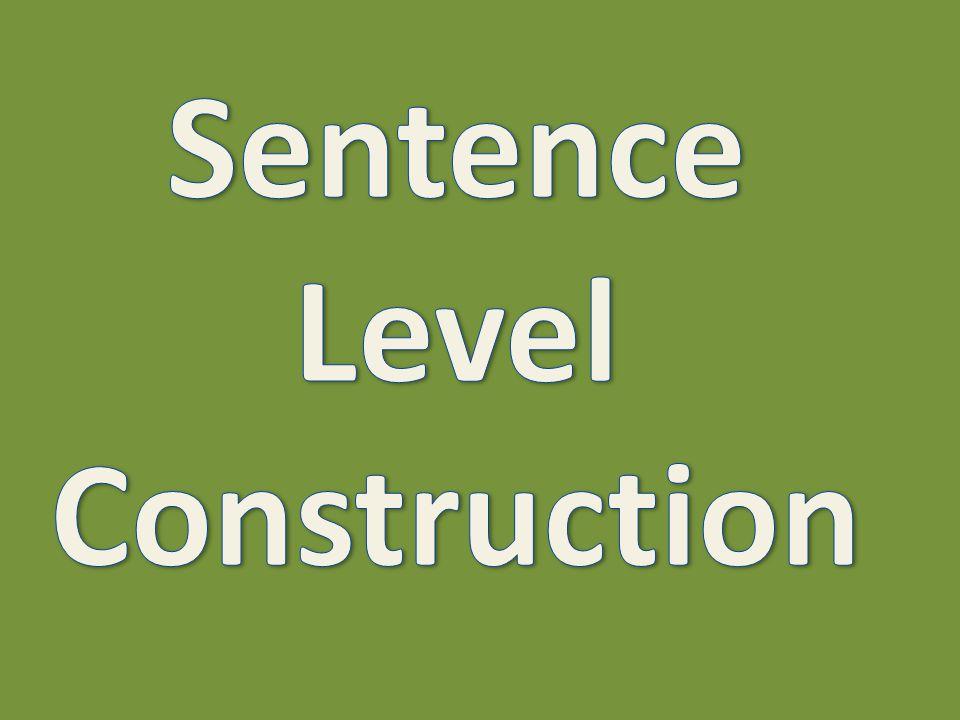 Compound sentences continued:
