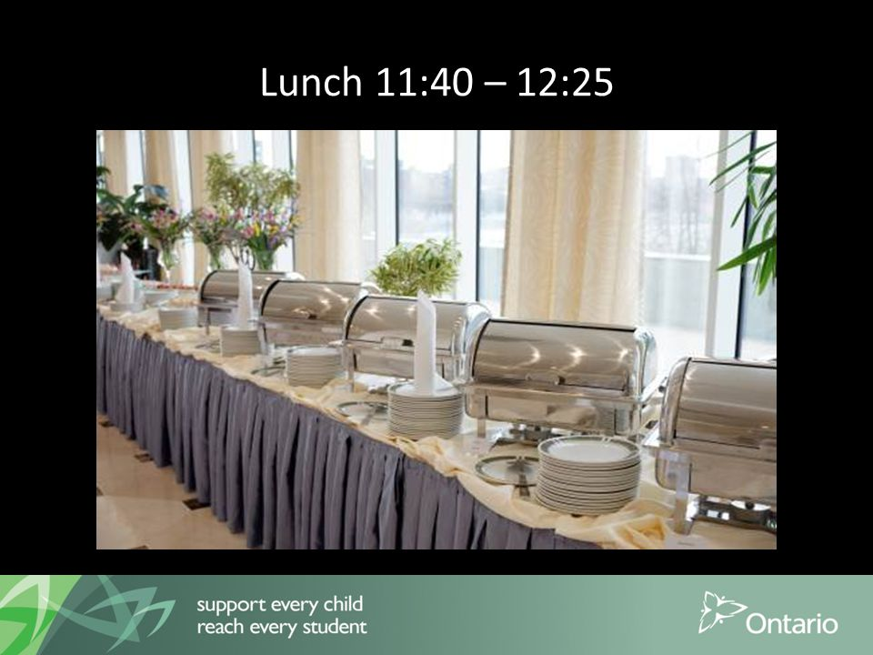 Lunch 11:40 – 12:25