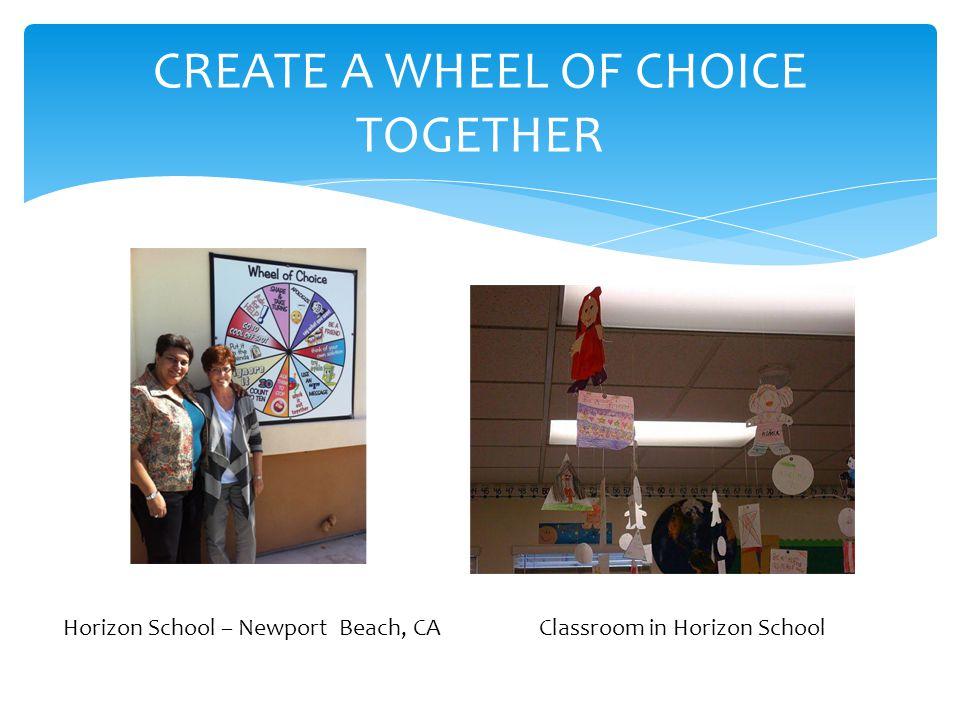 CREATE A WHEEL OF CHOICE TOGETHER Horizon School – Newport Beach, CA Classroom in Horizon School
