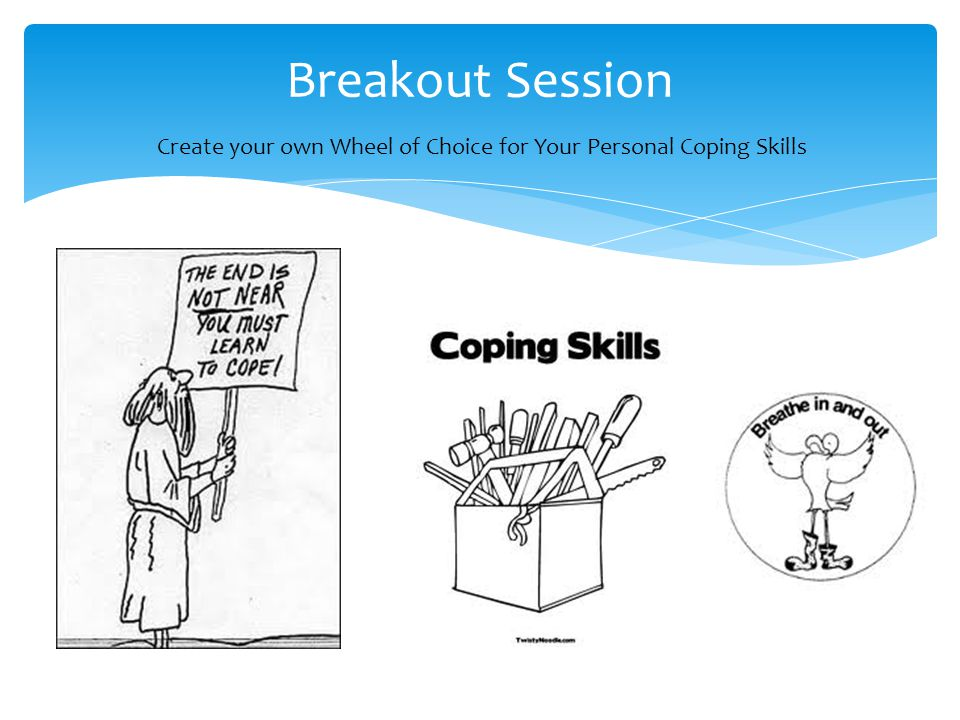 Breakout Session Create your own Wheel of Choice for Your Personal Coping Skills