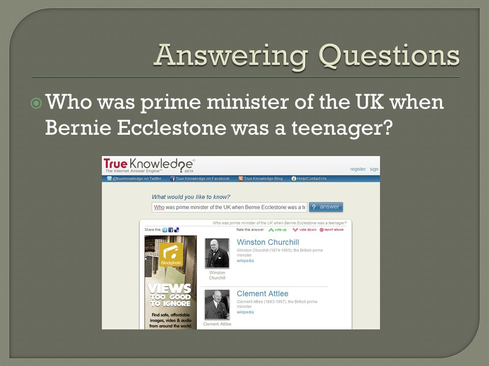  Who was prime minister of the UK when Bernie Ecclestone was a teenager