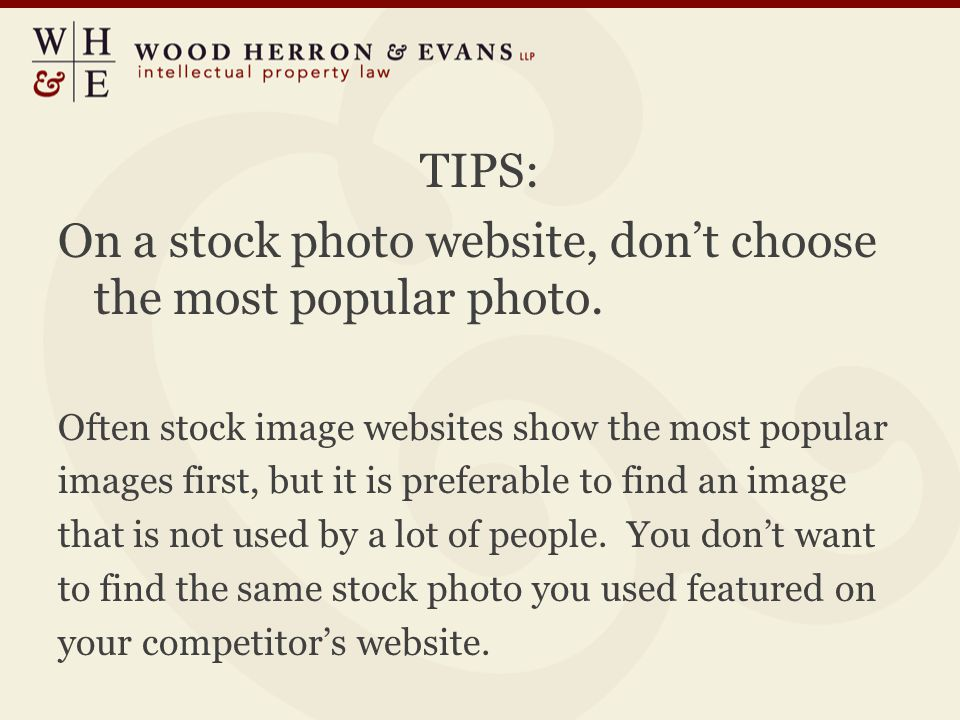 TIPS: On a stock photo website, don't choose the most popular photo.