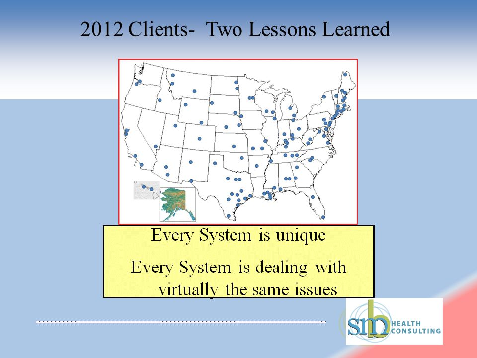 2012 Clients- Two Lessons Learned