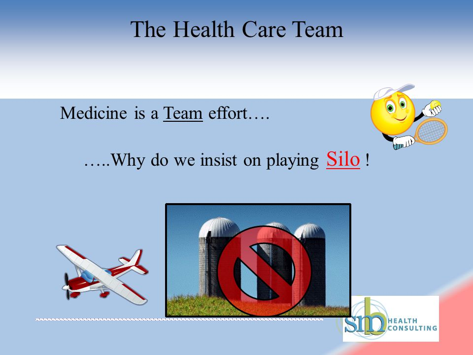Medicine is a Team effort…. …..Why do we insist on playing Silo !
