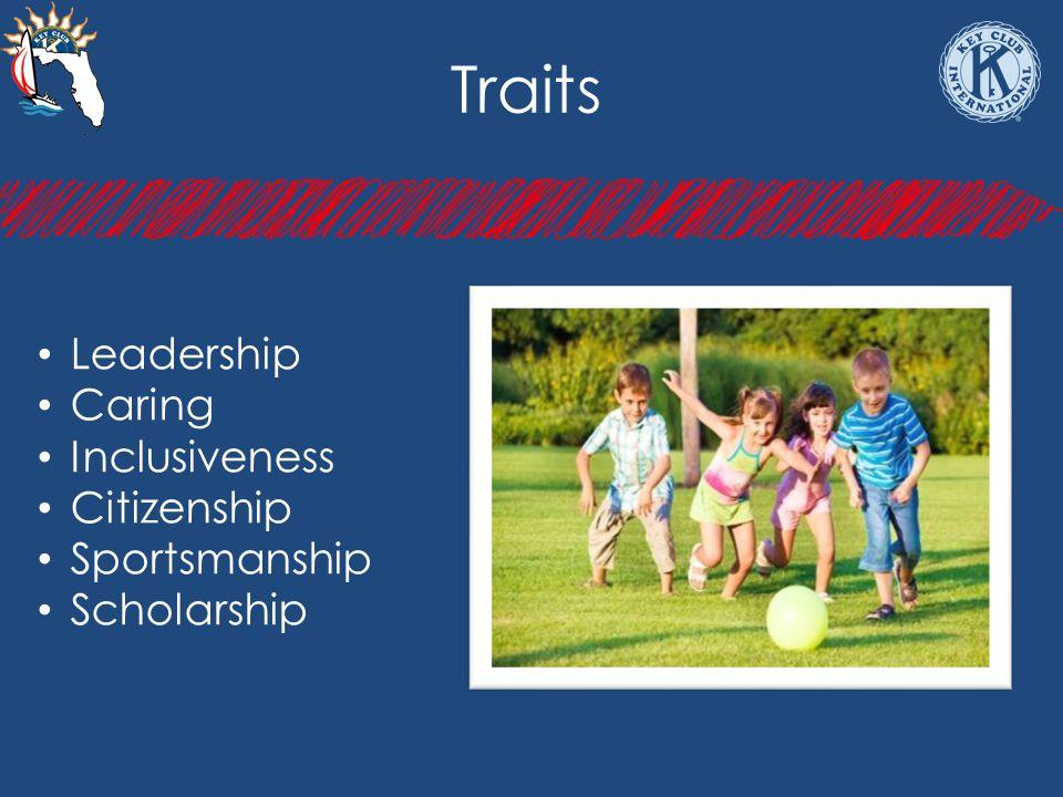 Traits Leadership Caring Inclusiveness Citizenship Sportsmanship Scholarship