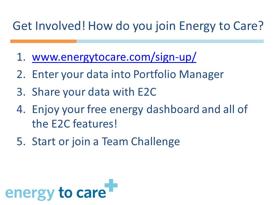 Get Involved.How do you join Energy to Care.