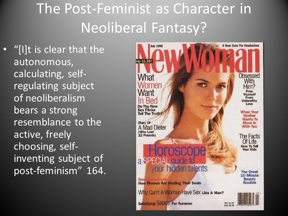 The Post-Feminist as Character in Neoliberal Fantasy.