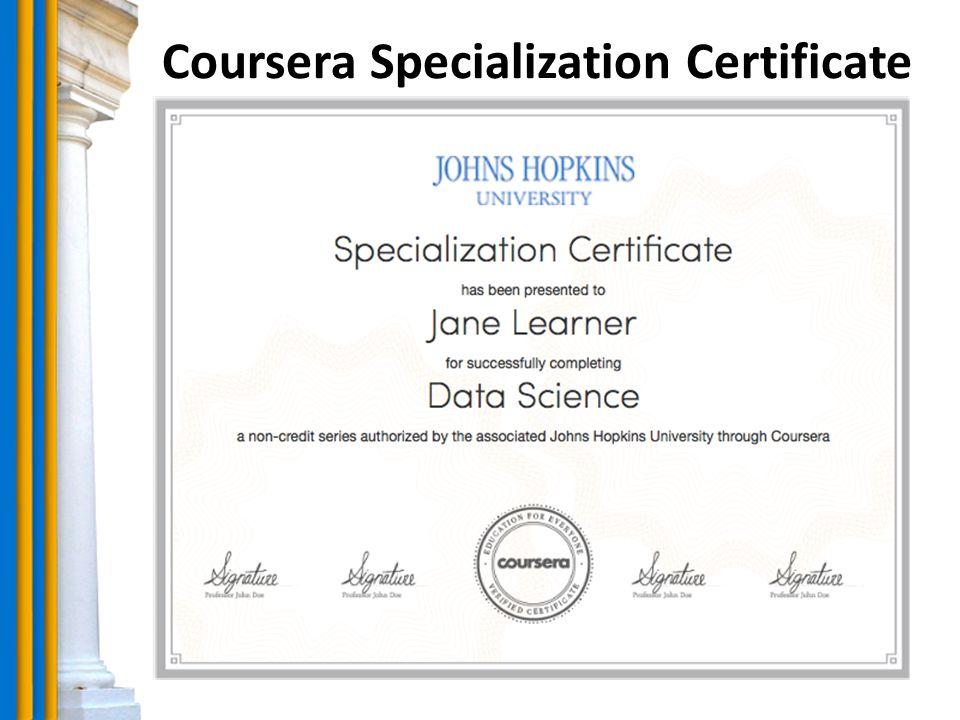 Coursera Specialization Certificate