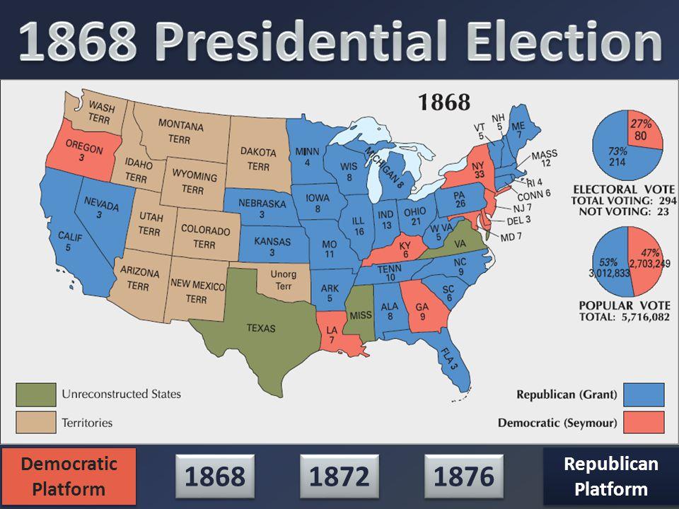 1872 1868 1876 Democratic Platform Democratic Platform Republican Platform Republican Platform