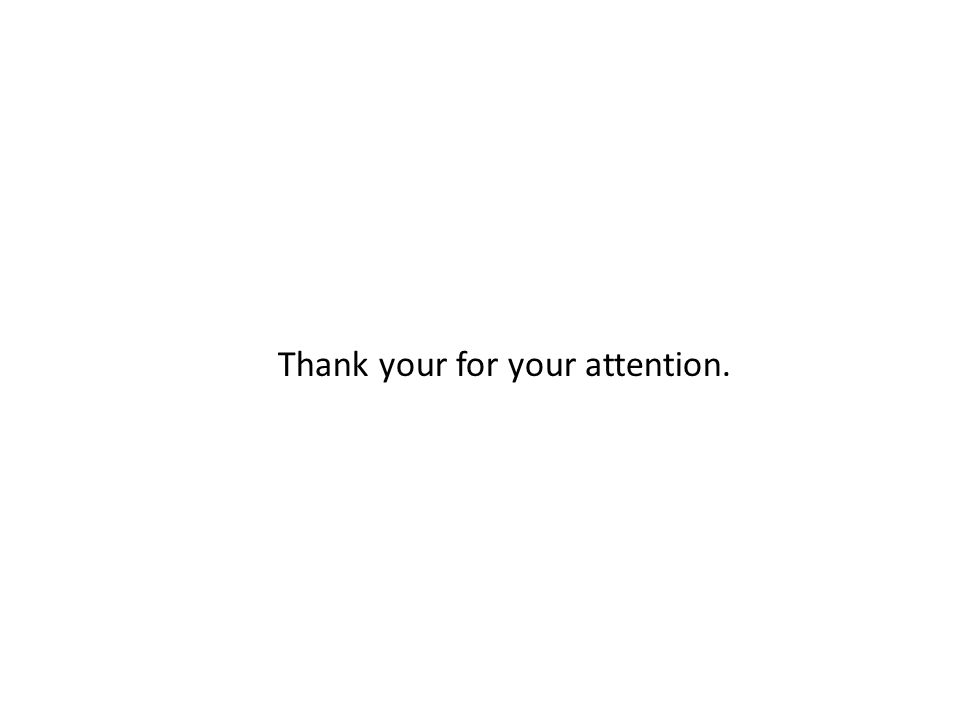 Thank your for your attention.