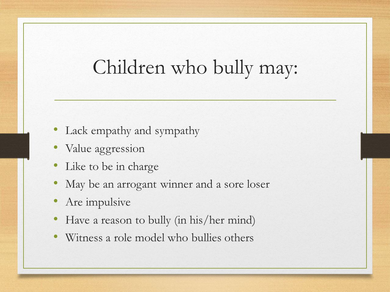 Parents, here are some things you can do: Teach kids to solve problems without using violence.