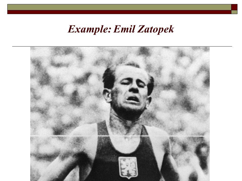 Example: Emil Zatopek