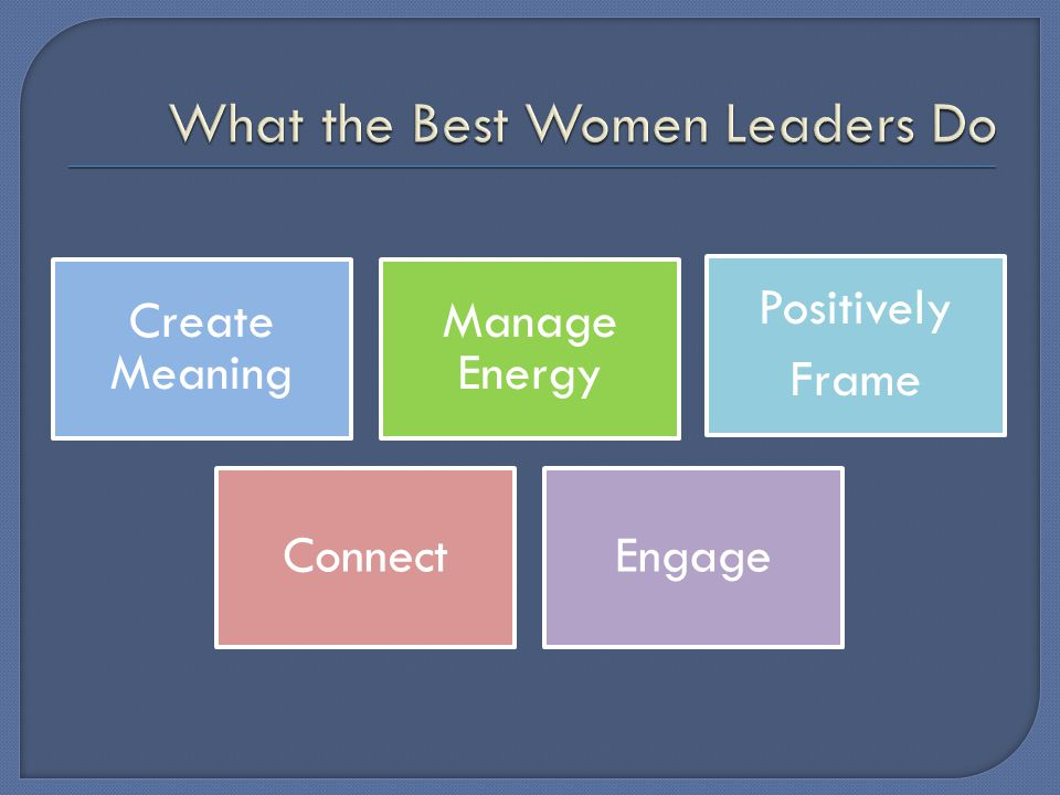 Create Meaning Manage Energy Positively Frame ConnectEngage