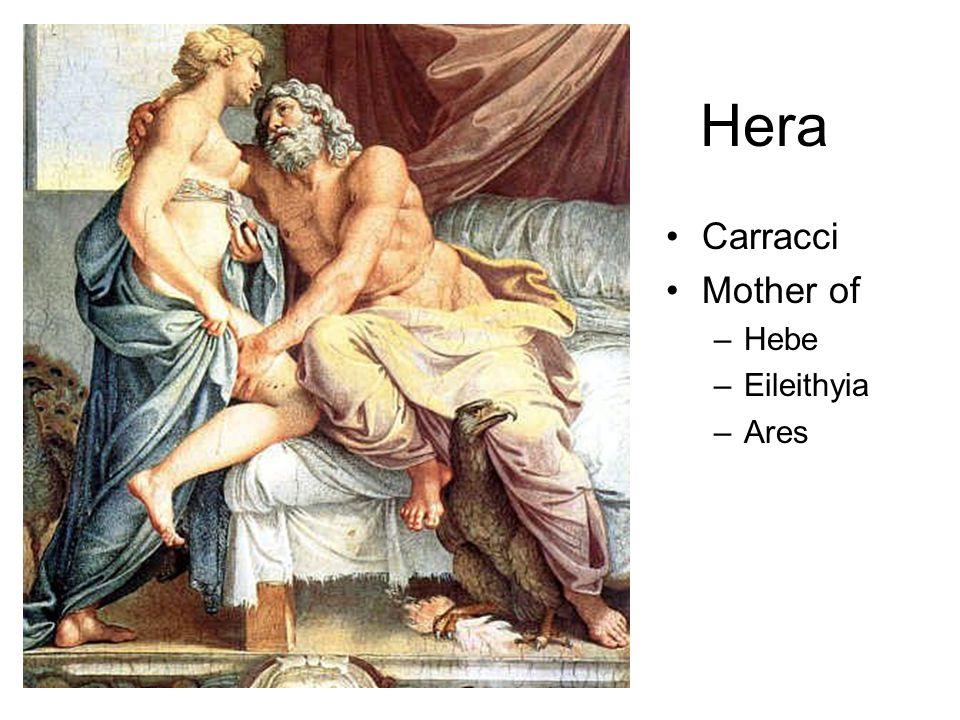 Hera Carracci Mother of –Hebe –Eileithyia –Ares