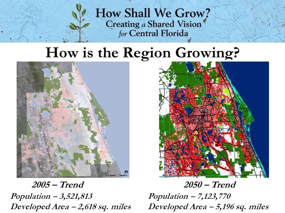 How is the Region Growing. Population – 3,521,813 Developed Area – 2,618 sq.