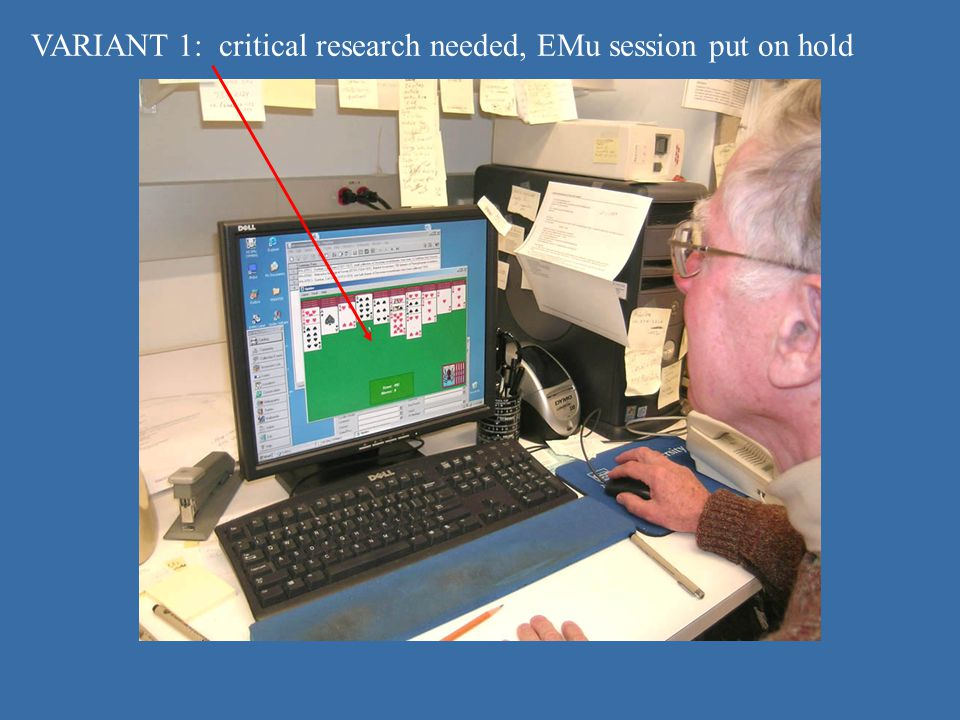 Critical research VARIANT 1: critical research needed, EMu session put on hold