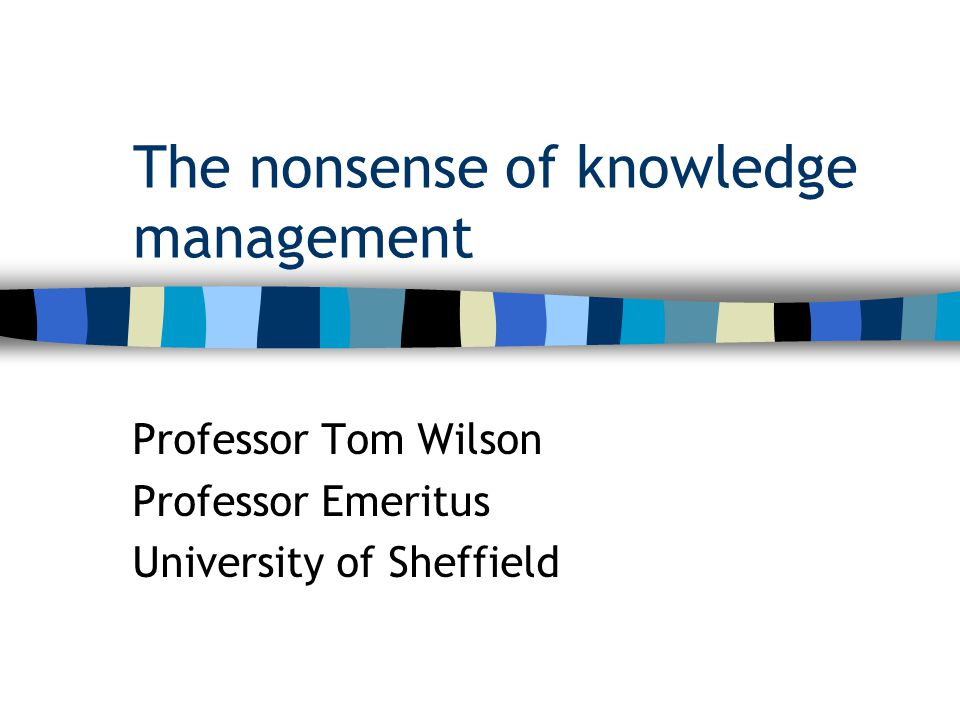 What is 'knowledge management'.
