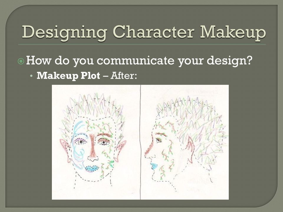  How do you communicate your design? Makeup Plot – After: