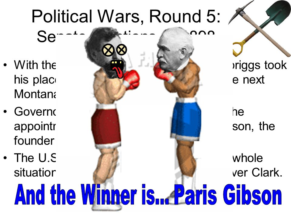 Political Wars, Round 5: Senate Elections of 1898 There was now an empty Senate seat which the Governor could fill.