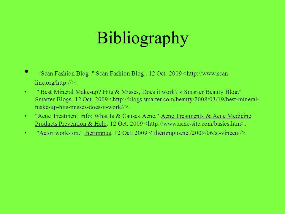 Bibliography Scan Fashion Blog. Scan Fashion Blog.