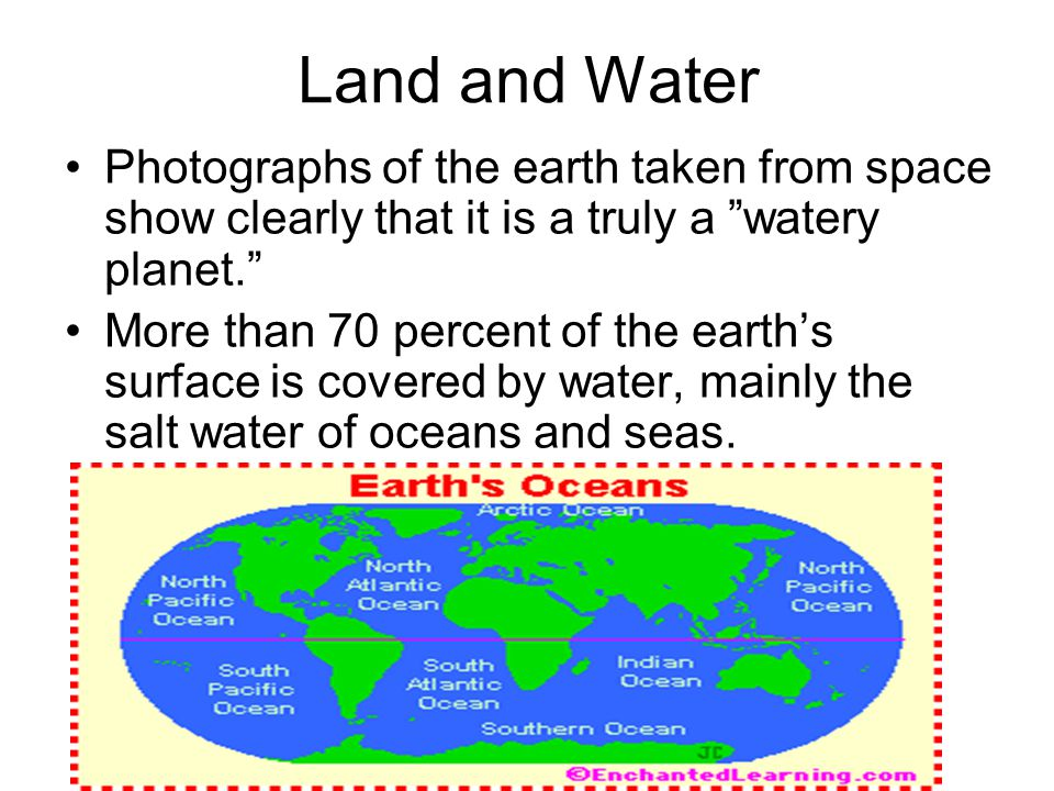 The large landmasses in the oceans are called continents.