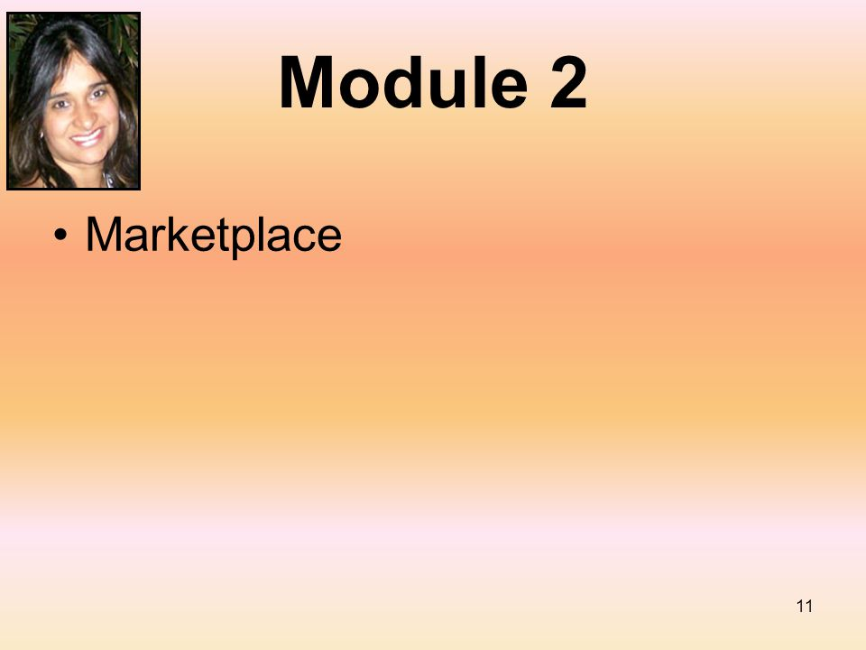 11 Module 2 Marketplace
