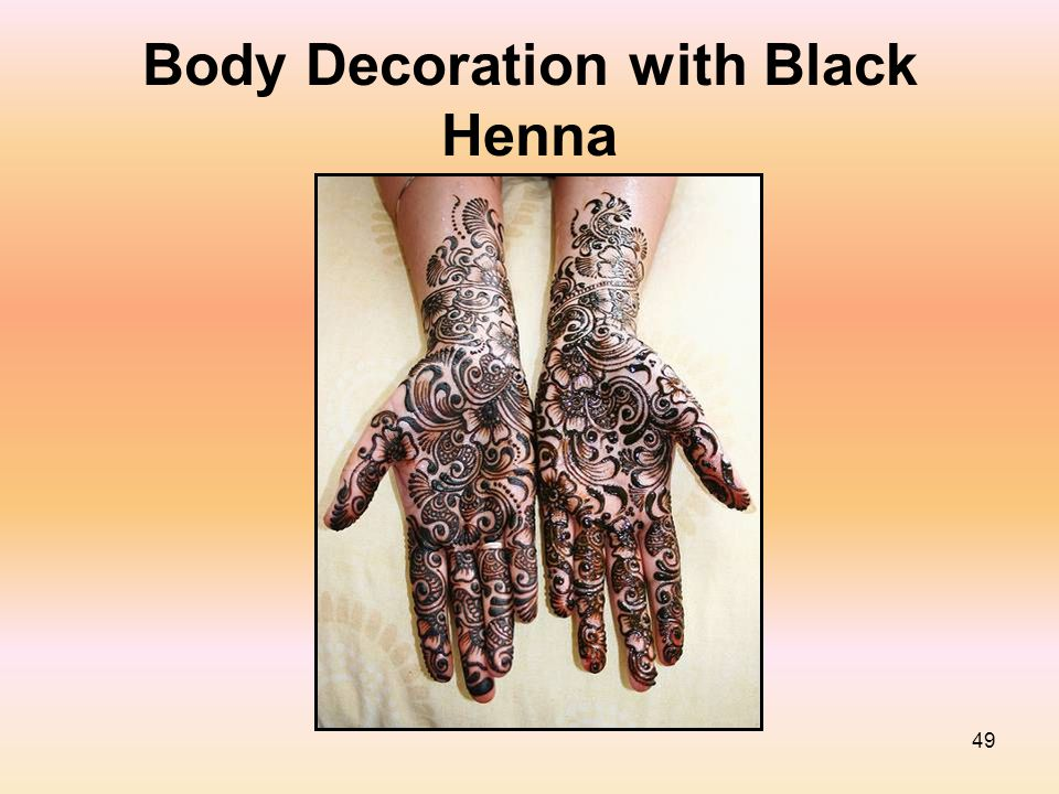 49 Body Decoration with Black Henna