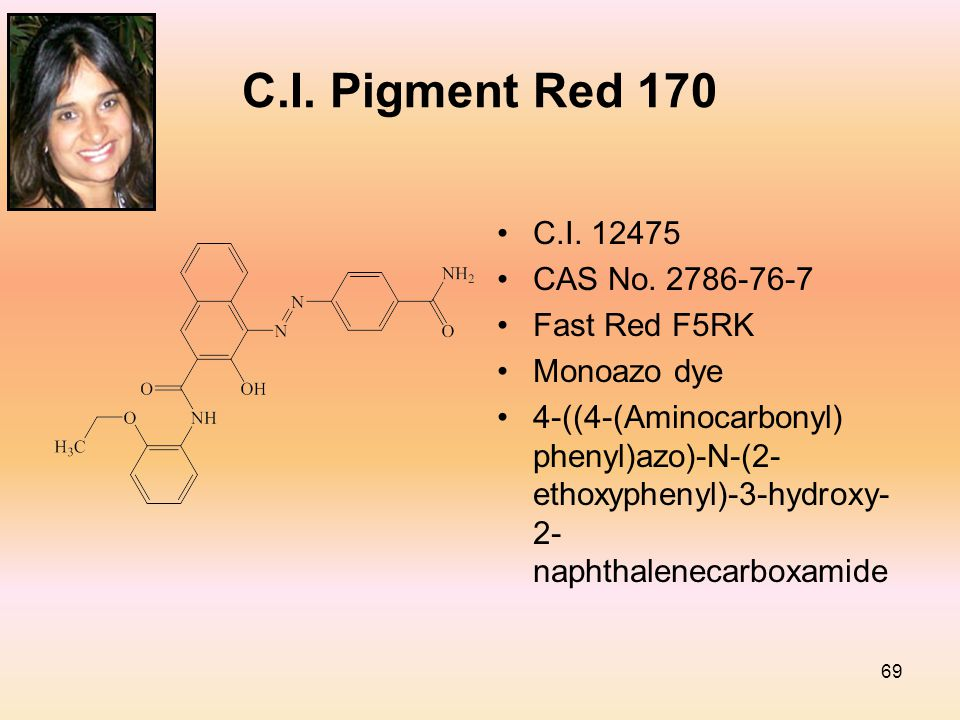 69 C.I. Pigment Red 170 C.I. 12475 CAS No.