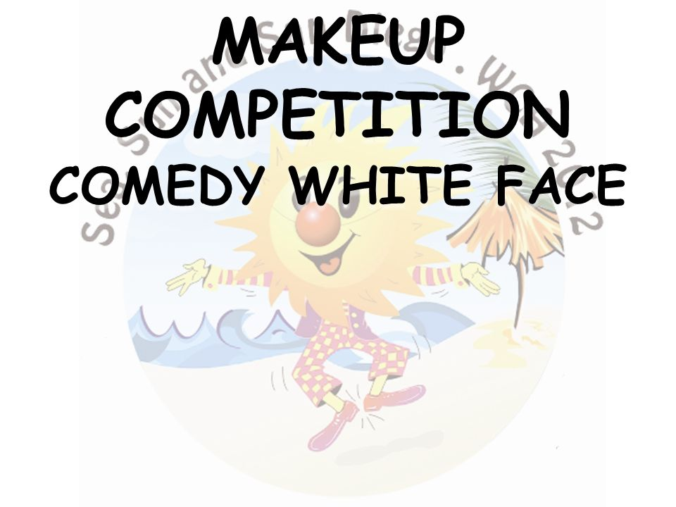 MAKEUPCOMPETITION COMEDY WHITE FACE