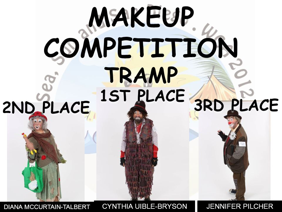 JENNIFER PILCHER DIANA MCCURTAIN-TALBERT 3RD PLACE MAKEUPCOMPETITIONTRAMP 2ND PLACE CYNTHIA UIBLE-BRYSON 1ST PLACE