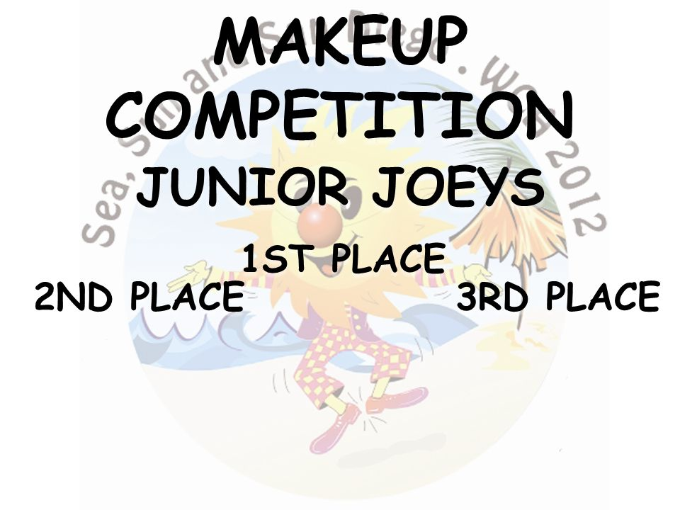 3RD PLACE 2ND PLACE 1ST PLACE MAKEUPCOMPETITION JUNIOR JOEYS
