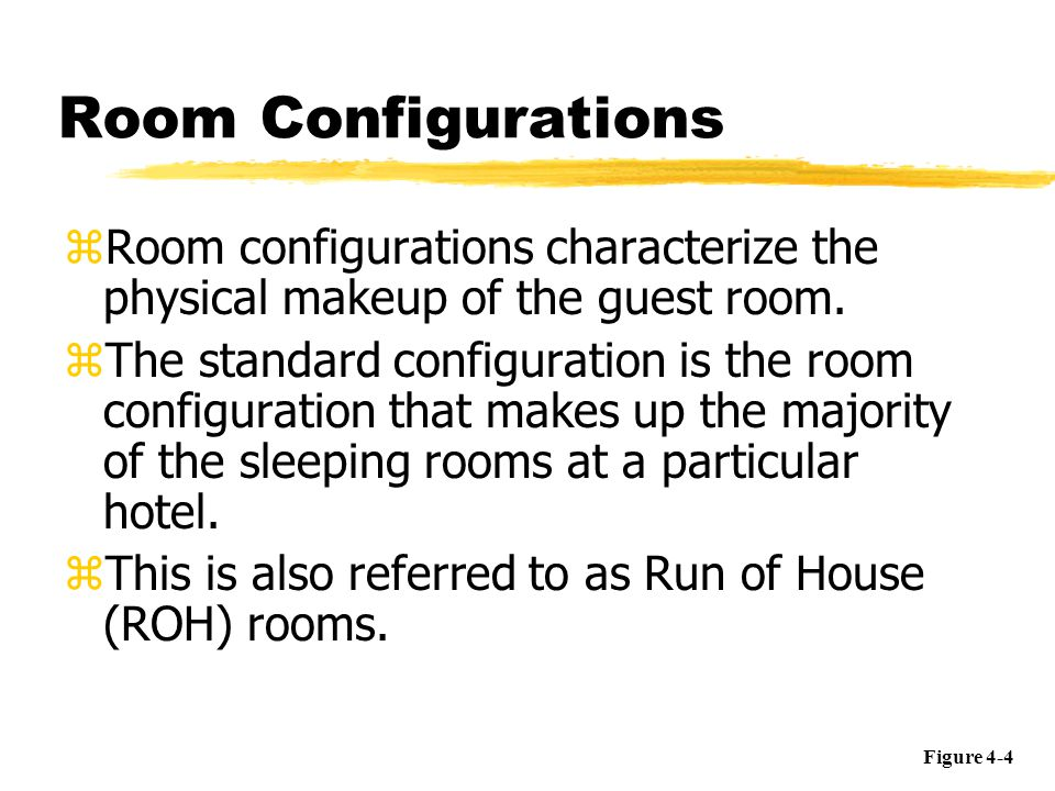 Room Configurations zThe enhanced configuration is understood to include more amenities and/or services than the standard configuration.